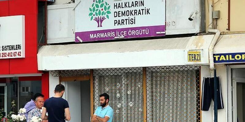 Marmaris'te HDP ilçe binasına saldırı: Şüpheli gözaltına alındı