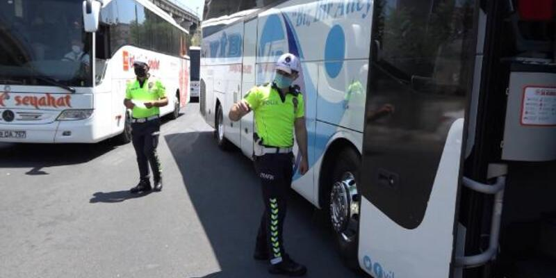 Kurban Bayramı öncesi şehirlerarası otobüslere denetim