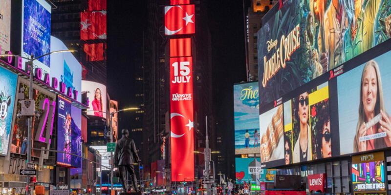 New York'un Times Meydanı'nda 15 Temmuz: Türkiye Geçilmez
