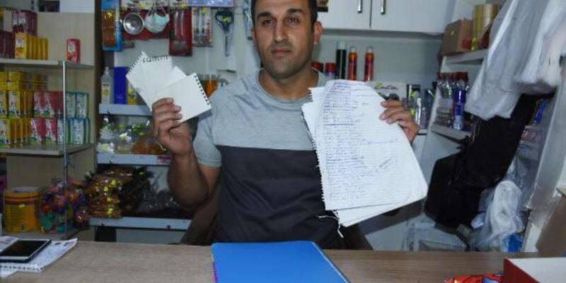 Mahalle bakkalının veresiye defterindeki 35 bin lira borcu ödedi