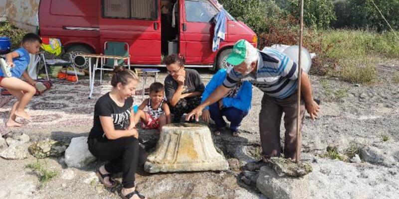 İznik Gölü'nde tarihi eser bulundu