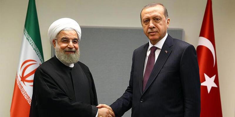 Son dakika... Cumhurbaşkanı Erdoğan, Ruhani ile görüştü