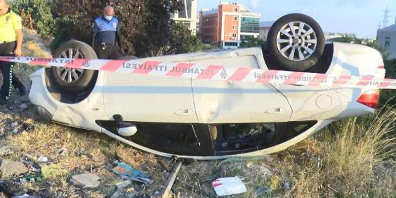 Takla atan otomobilin sürücüsü kayıplara karıştı