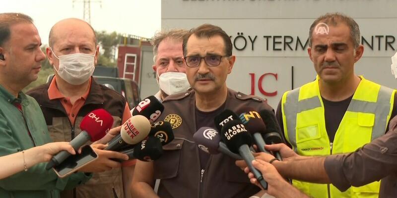 SON DAKİKA: Termik santralde yangın söndürüldü! Bakan Dönmez'den açıklama...