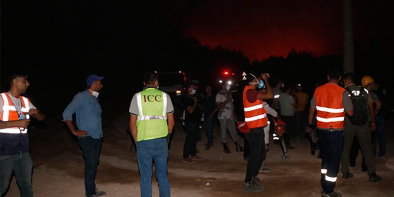 Muğla'da yangının tehdit ettiği bir yerleşim yeri tahliye edildi
