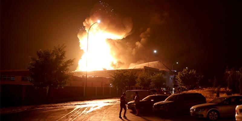 Gaziantep'te fabrikada yangın!
