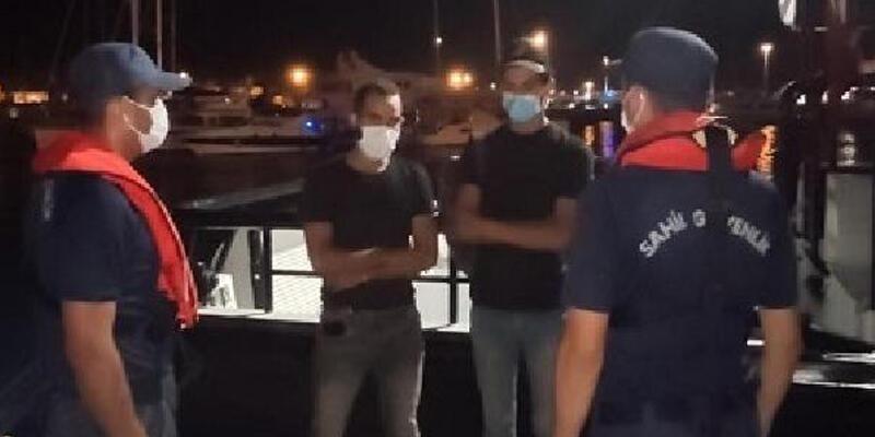 Ticari gemide 2 göçmen yakalandı