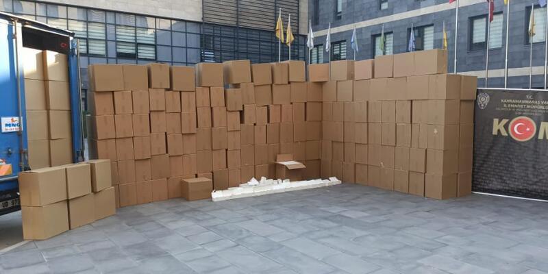 Kahramanmaraş'ta 2,5 milyon kaçak makaron yakalandı