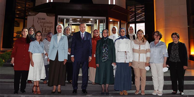 Cumhurbaşkanı Erdoğan KADEM hizmet içi eğitim kampını ziyaret etti