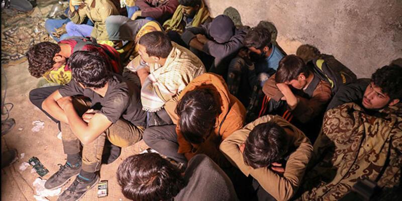 Metruk yapıda 25 düzensiz göçmen yakalandı