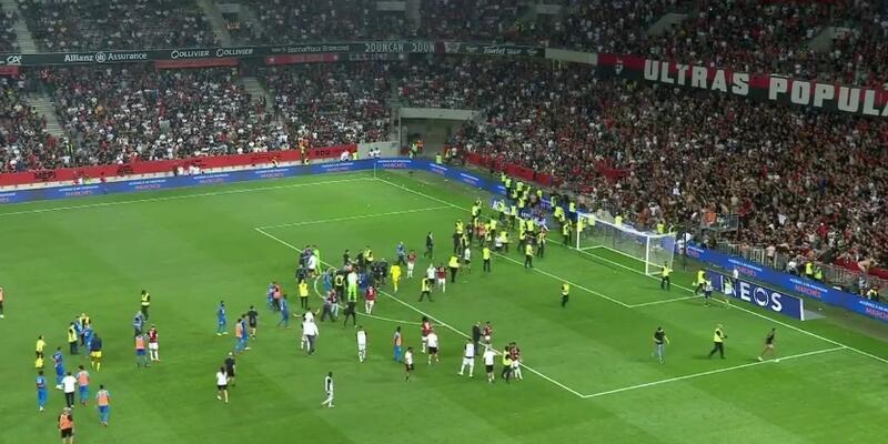 Nice-Marsilya maçı yarıda kaldı