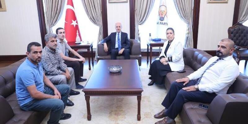 AK Parti'li Kurtulmuş, Diyarbakırlı Babalar ile görüştü