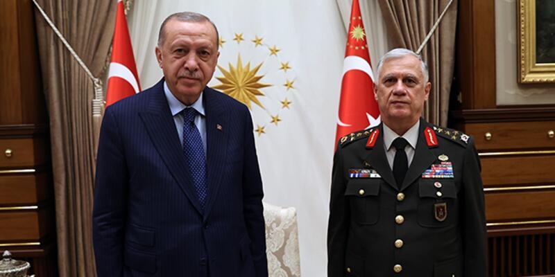 Cumhurbaşkanı Erdoğan, emekliye ayrılan Orgeneral Dündar'ı kabul etti