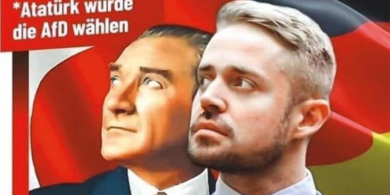 Berlin'de Atatürk'ün yer aldığı afişler büyük tepki çekti