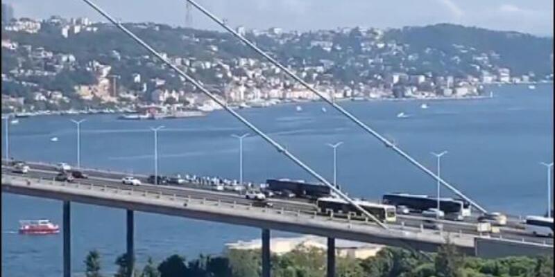 Köprüde metrobüs arızası