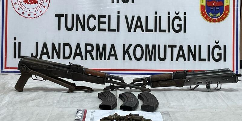Tunceli'de teröristlerin kullandığı sığınaklar imha edildi