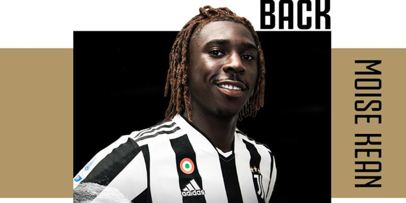 Moise Kean Juventus'a kiralık olarak geri döndü