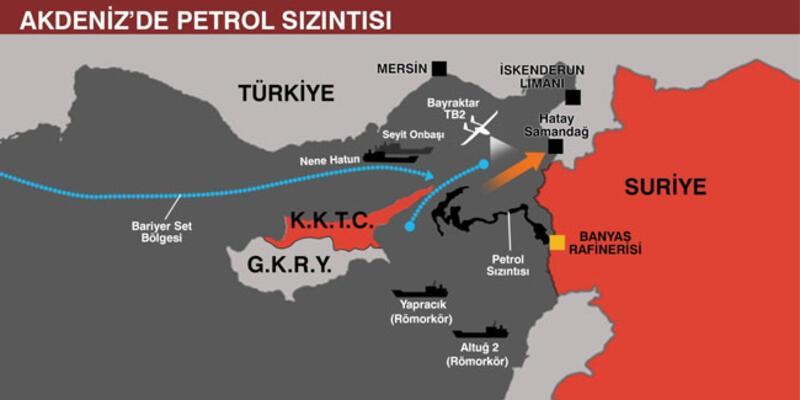 MSB, petrol sızıntısı için Akdeniz'e İHA gönderdi