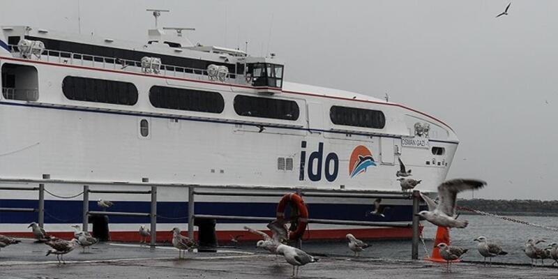 İDO, olumsuz hava koşulları nedeniyle bazı seferlerini iptal etti