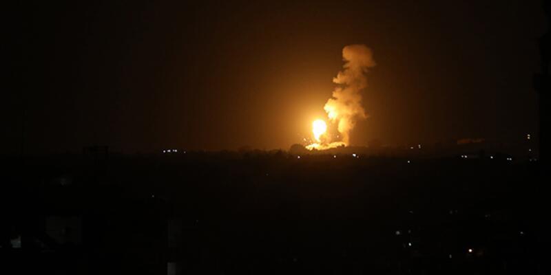 İsrail savaş uçakları Gazze'ye saldırı düzenledi