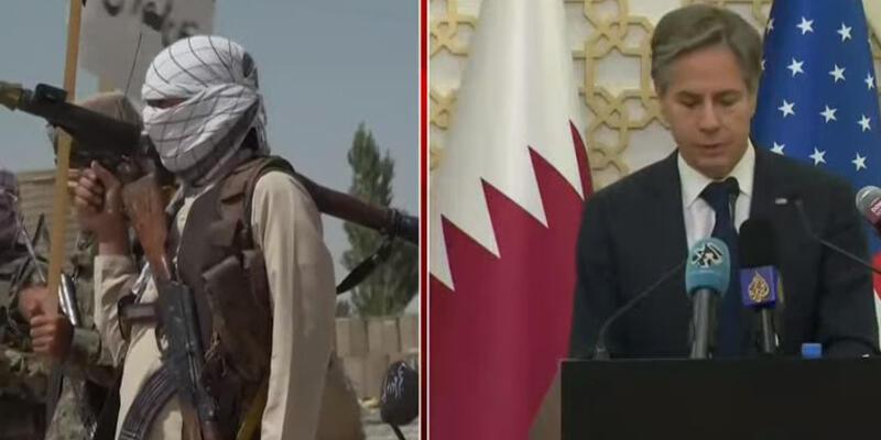 """Son dakika... ABD Dışişleri Bakanı Antony Blinken: """"Taliban ile görüştük, belgesi olanlar ülkeden çıkabilecek"""""""