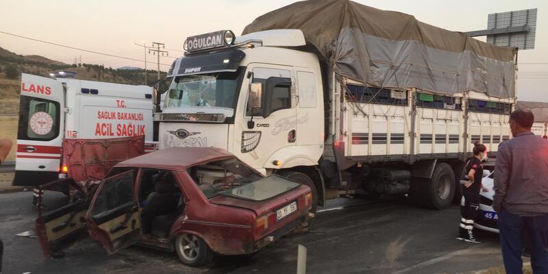 Alaşehir'de kaza: 1 ölü, 3 yaralı