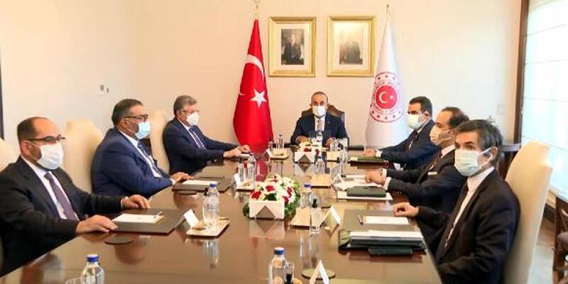 Bakan Çavuşoğlu, Suriye Ulusal Koalisyonu Başkanı ile görüştü