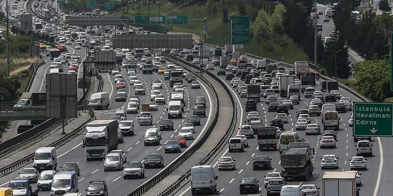 İstanbul'da trafik yoğunluğu yüzde 62