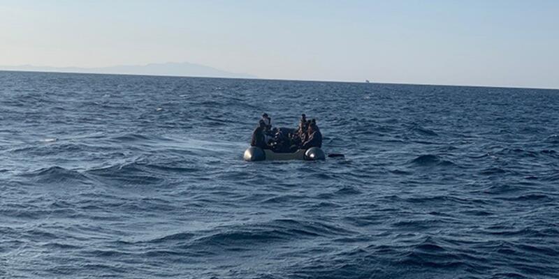 Türk kara sularına geri itilen 35 düzensiz göçmen kurtarıldı
