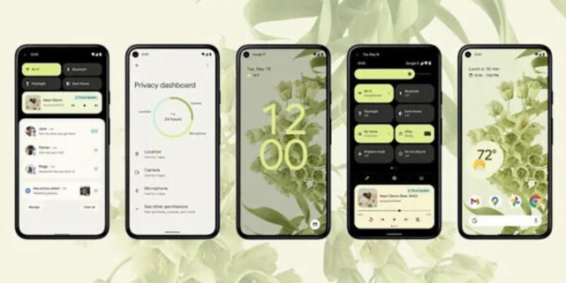 Android 12'nin son beta sürümünü yayınladı
