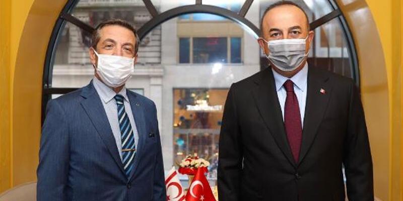 Bakan Çavuşoğlu, KKTC Dışişleri Bakanı Ertuğruloğlu'yla görüştü