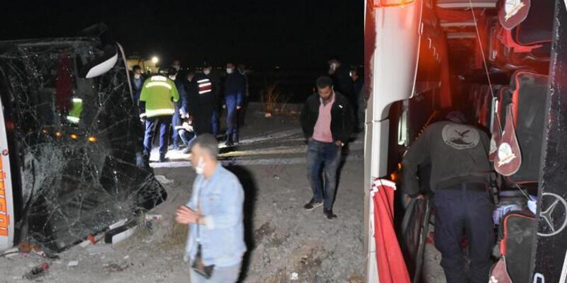 Son dakika: Konya'da yolcu otobüsü devrildi! Çok sayıda yaralı var