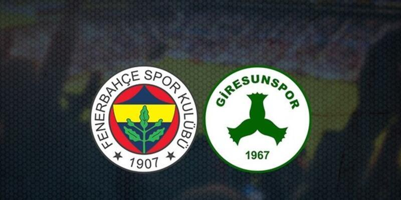 Fenerbahçe Giresunspor maçı kaçta, hangi kanalda? FB Giresunspor maçı canlı yayın izleme bilgileri!