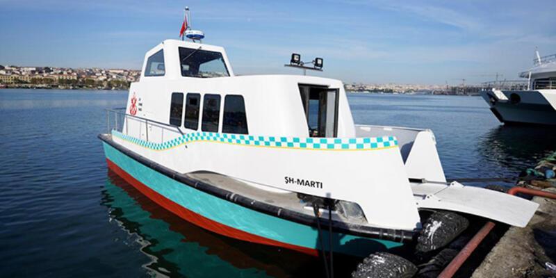 İstanbul'da 8 deniz taksi suya indirildi