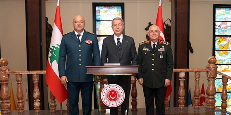 Bakan Akar, Lübnan Silahlı Kuvvetler Komutanı Korgeneral Aoun'u kabul etti