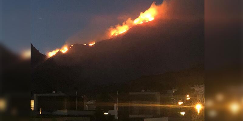 Son dakika... Bodrum'da korkutan yangın