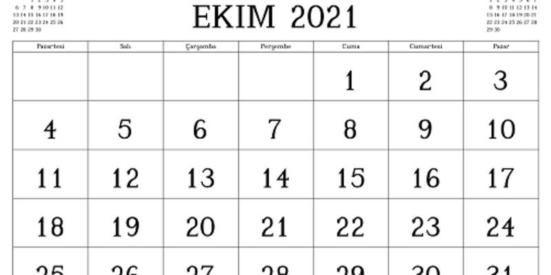 Ekim ayı önemli günler ve haftalar 2021: Ekim ayında resmi tatil var mı, hangi gün?
