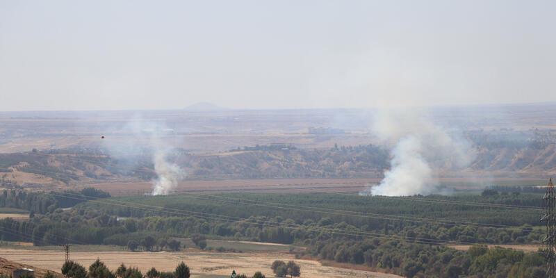 Tarihi Hevsel Bahçeleri'nde anız yangını