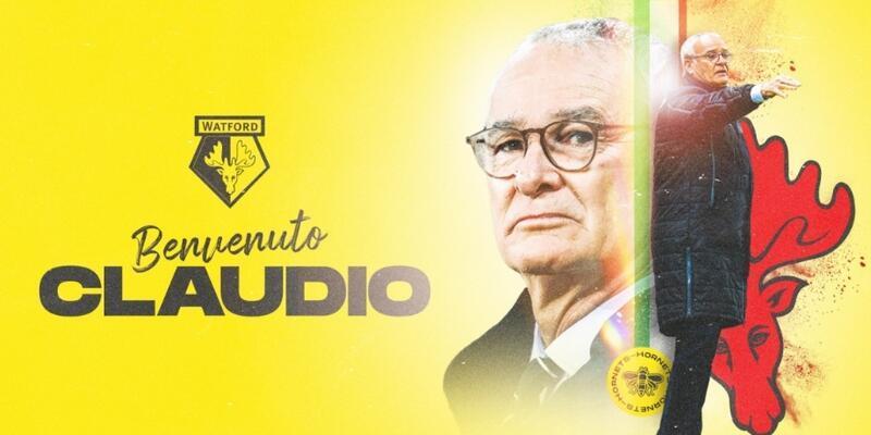 Watford Claudio Ranieri'yi göreve getirdi