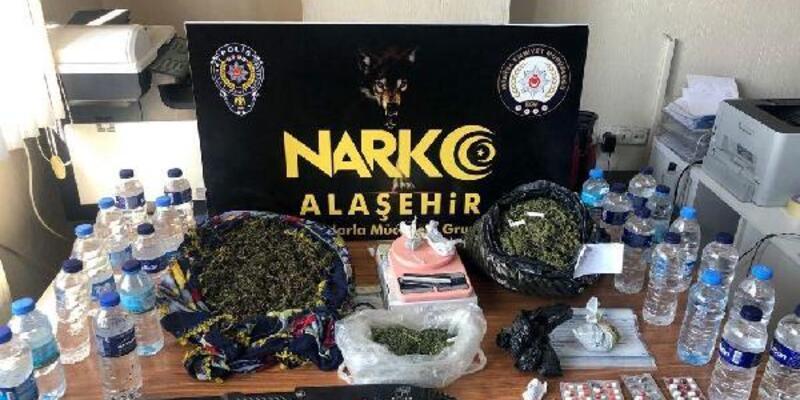 Alaşehir'de uyuşturucu operasyonu: 12 gözaltı