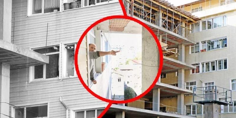 Cama sıfır apartman: Şişli'de apartmanın içine giren inşaatın gerekçesi arsa işgaliymiş!
