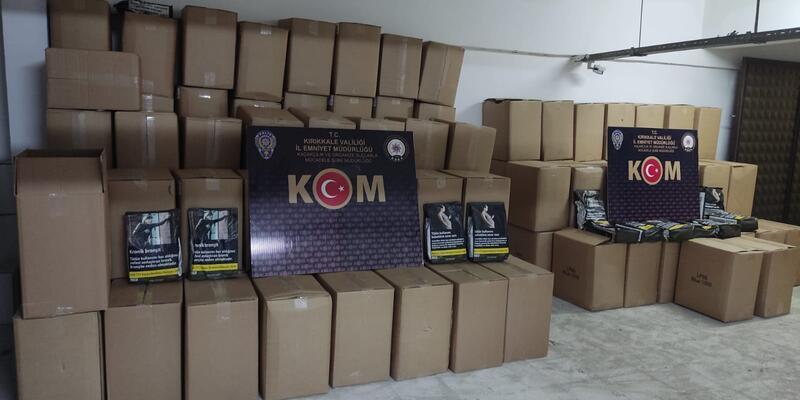 Kırıkkale'de 1.2 ton kaçak tütün ele geçirildi