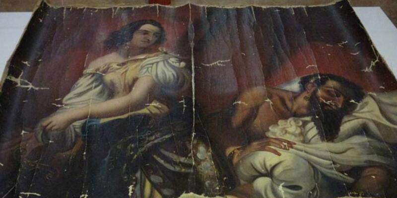 Operasyonda ele geçirilen 140 yıllık Yahya Peygamber tablosu, orijinal çıktı