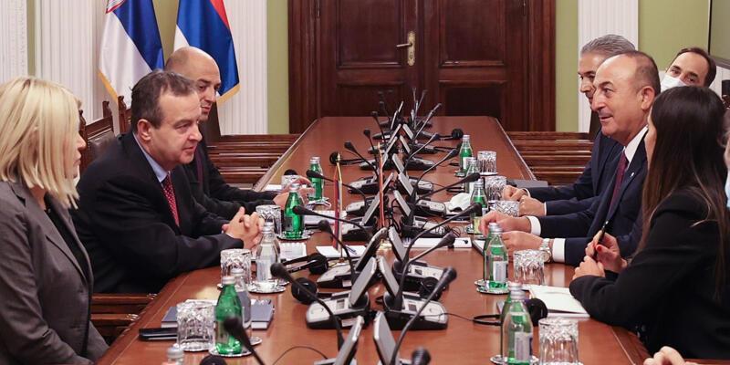 Çavuşoğlu, Sırbistan Ulusal Meclis Başkanı Dacic ile görüştü