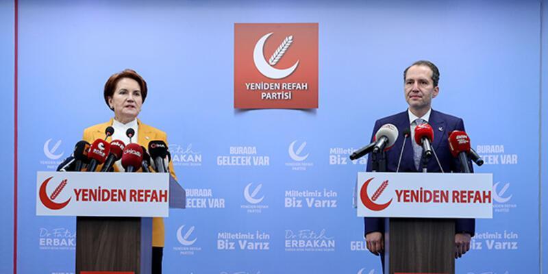 Meral Akşener, Yeniden Refah Partisi Genel Başkanı Erbakan'ı ziyaret etti