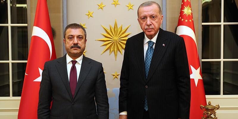 Son dakika haberi: Cumhurbaşkanı Erdoğan, MB Başkanı Kavcıoğlu'nu kabul etti