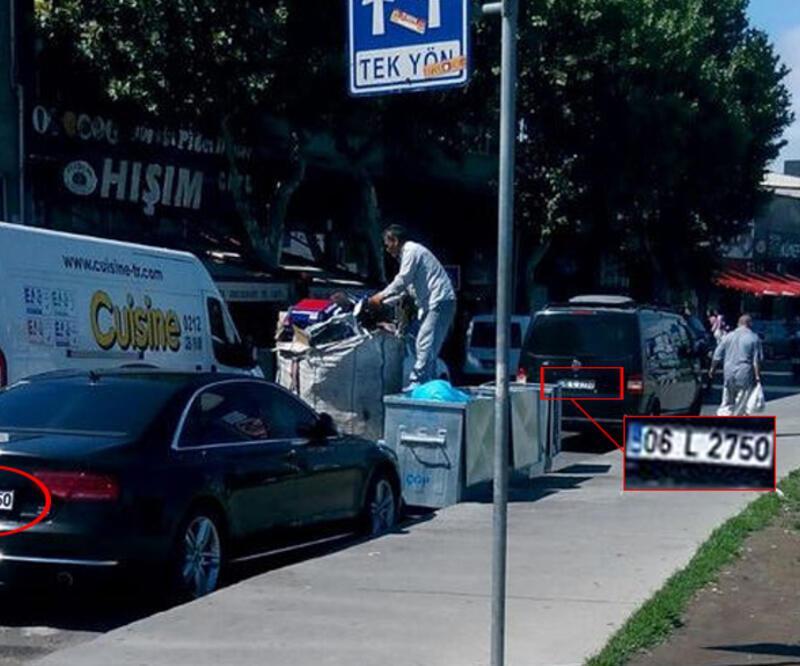 CHP ve MHP sokağında aynı plakalı iki araç
