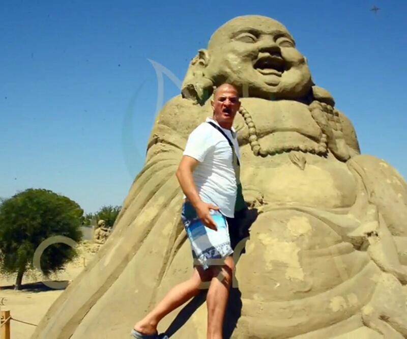 Antalya'da Buda heykeline ilginç saldırı