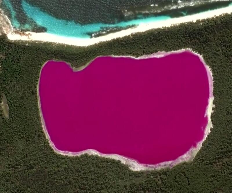 Avustralya'da pembe göl