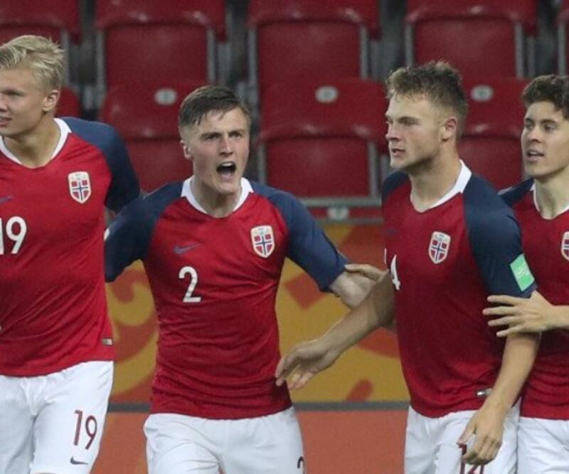 Erling Haland coştu Norveç 12 gol attı